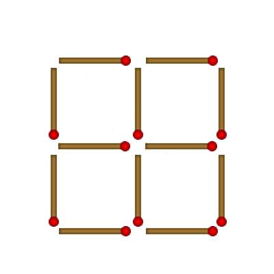 Как сделать из десяти спичек два квадрата 40